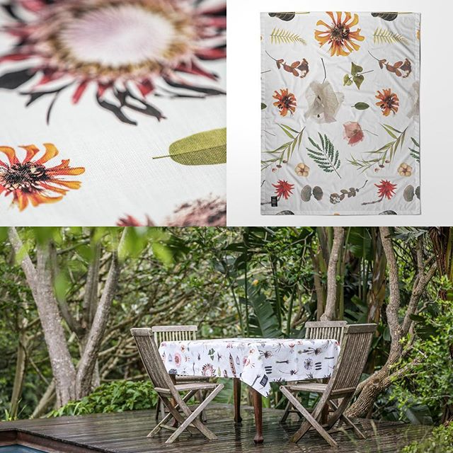 JUST ARRIVED - New stock of exclusive tablecloths from South African designer @clintonfriedman - details at www.jalu.co.uk #southafricanstyle #indooroutdoorliving #alfrescoliving #styleit #botanicalstyle #protea #stylestatement #houseandgarden #flowersofinsta #interiordesignblog