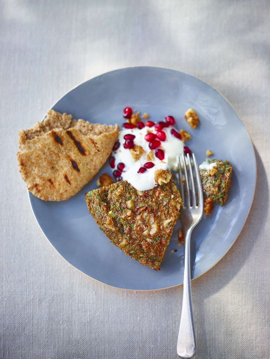 Spicy herb omelette