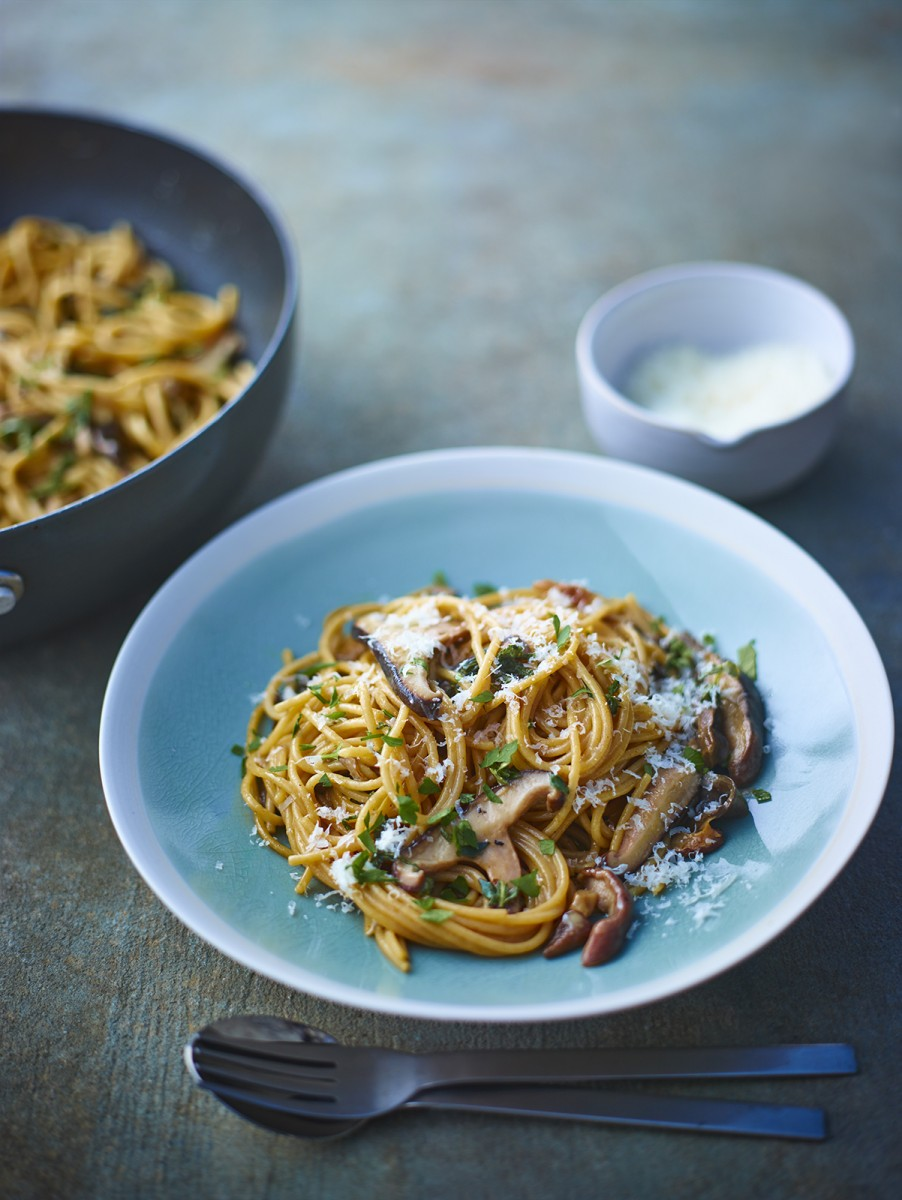 Porcini, Oyster and Shiitake Mushroom pasta with thyme and sage