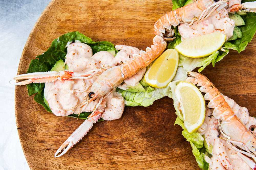 Langoustines are a yummy addition to a traditional prawn cocktail