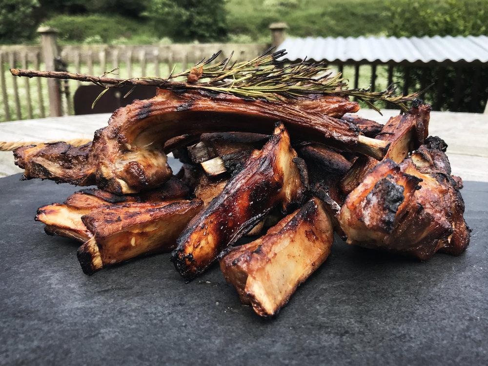 Delicious lamb ribs