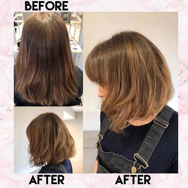 ❤ Freehand Balayage on a natural root finished with a beautifully restyled choppy bob .❤ Colour and Restyle by Kelly  G&Bx