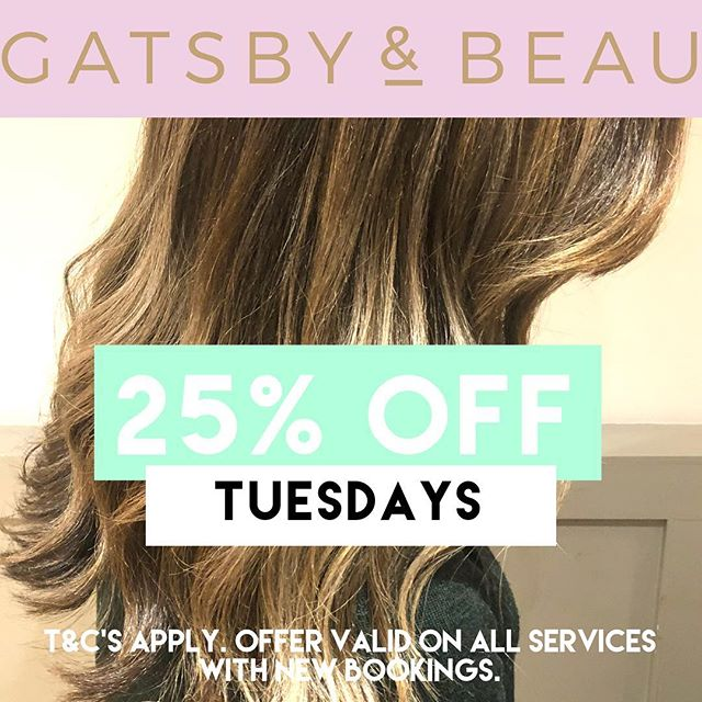 🌷 H E L L O  A P R I L 🌷 . . To celebrate the arrival of spring, we are running a promotion on Tuesdays to make your spring/summer look a little easier on the pocket 😘💁🏼♀️ All appointments can be made via FB, Insta or reception ☎️- 028 9268 8367 & quote SPRING OFFER when booking ☺️ - G&Bx