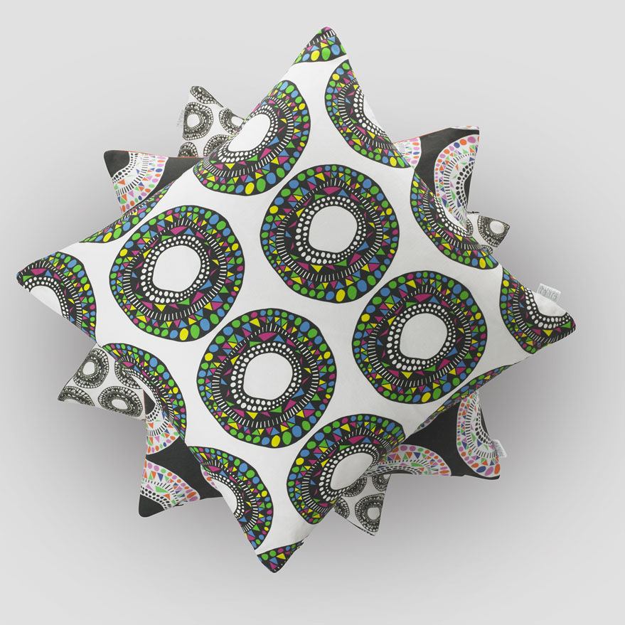 Aztec Doughnuts piled cushions.jpg