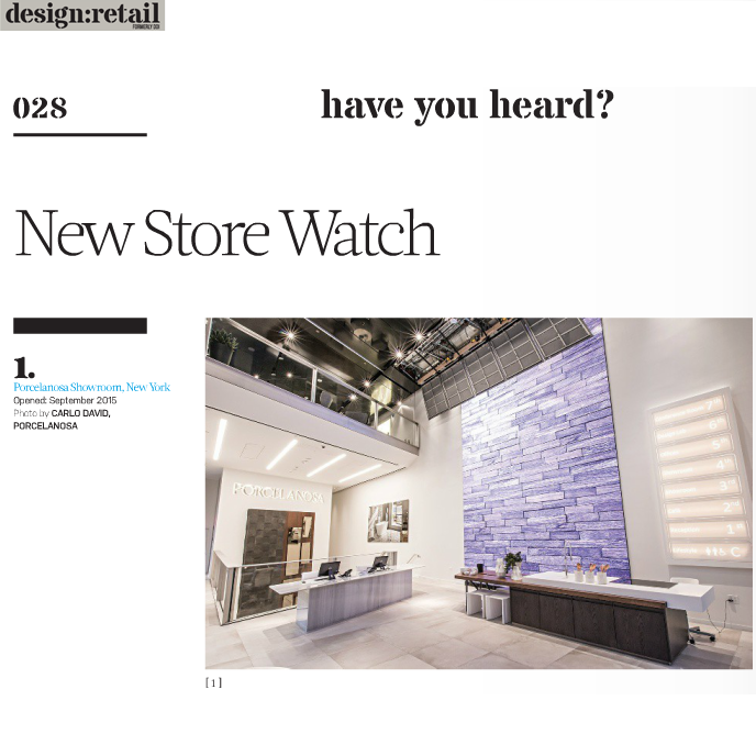 Modworxx Featured in Design:Retail Magazine for Porcelanosa Project, December 2015