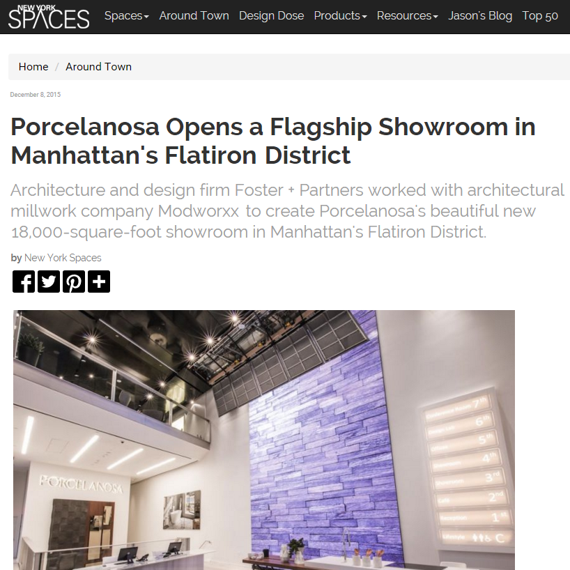 Modworxx Featured in New York Spaces, December 2015