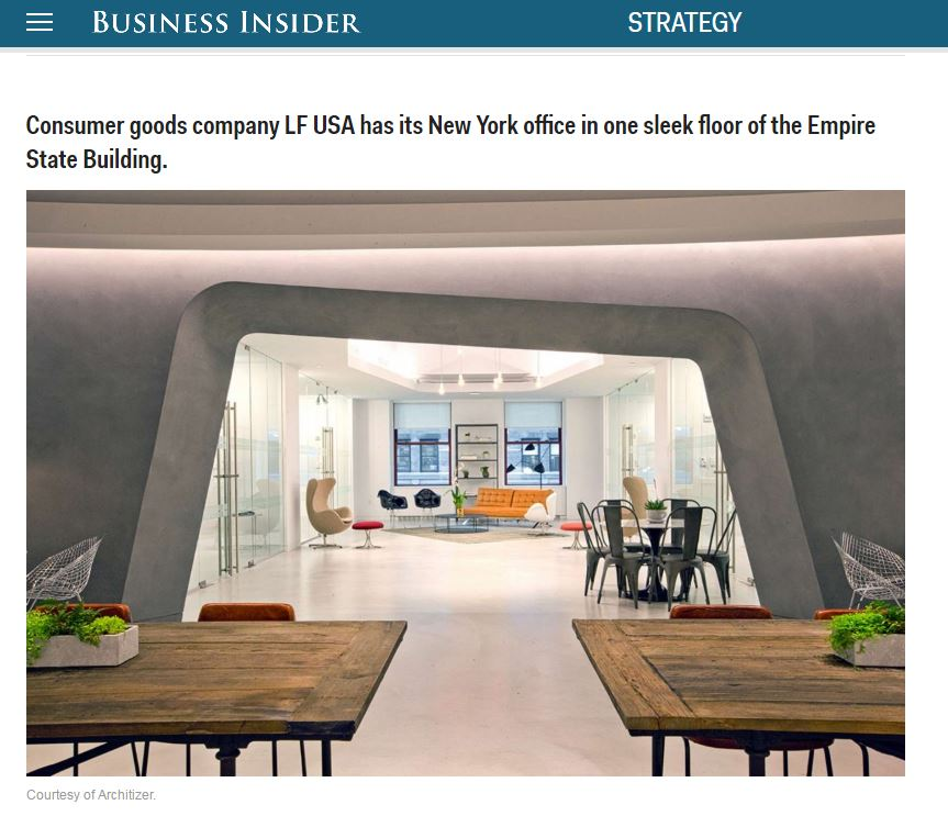 Modworxx Project Li & Fung Named To Business Insider's List of the Most Amazing Office Spaces On The Planet, April 2014