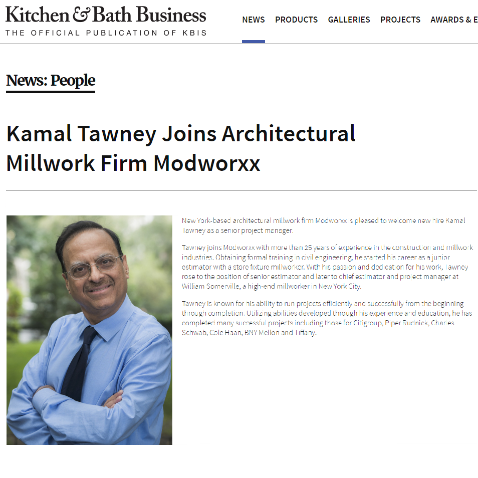 Modworxx Featured on K+BB - November 2016