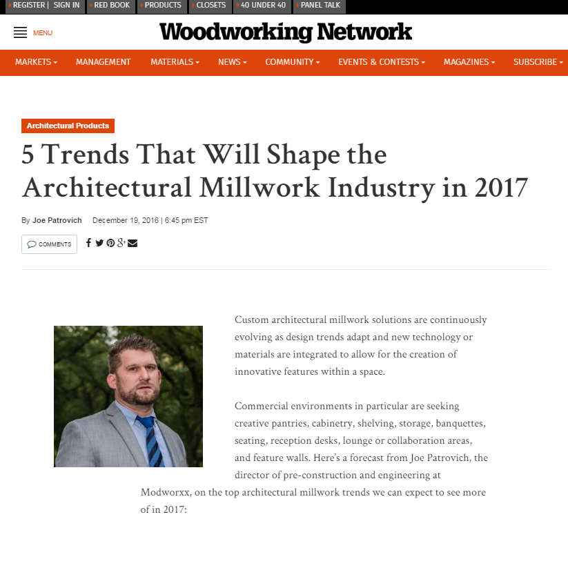 Modworxx Featured In Woodworking Network