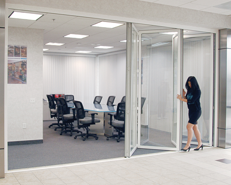 Bi-Folding Glass Wall