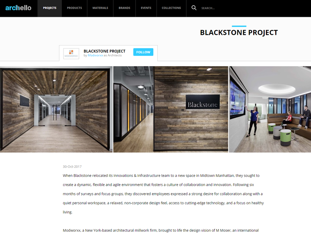 BLACKSTONE PROJECT on Archello.com