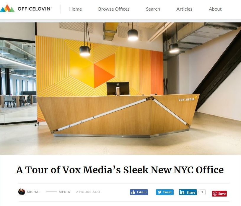 A Tour of Vox Media's Sleek New NYC Office on Office Lovin'