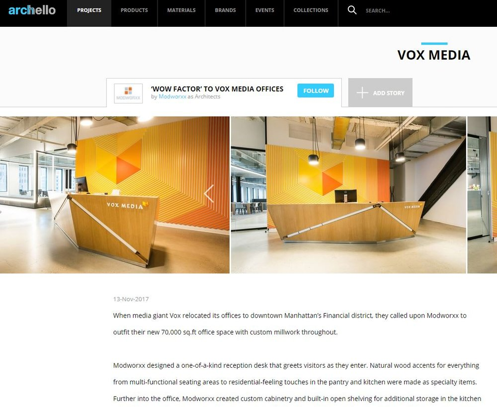 'WOW FACTOR' TO VOX MEDIA OFFICES on Archello