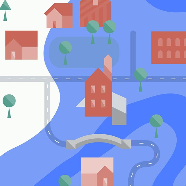 River corridors and covered bridges for the Vermont Agency of Natural Resources. Soon to be animated 💙