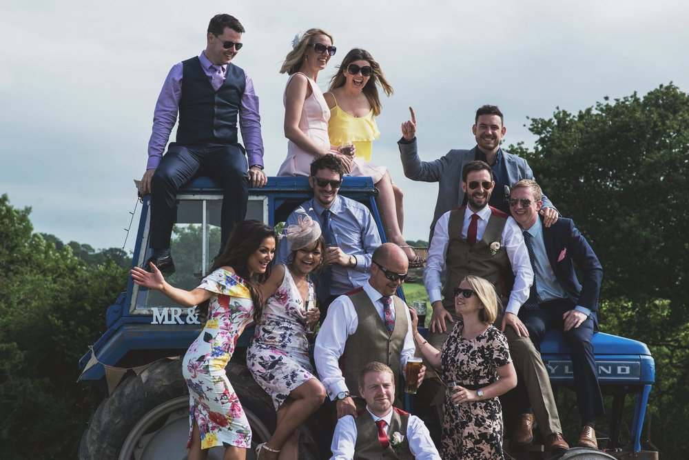 photo booth for a rustic farm wedding - north wales wedding photographer