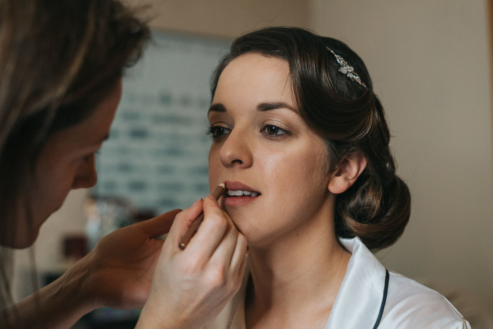 bridal prep image from north west wedding captured by the liverpool wedding photographer