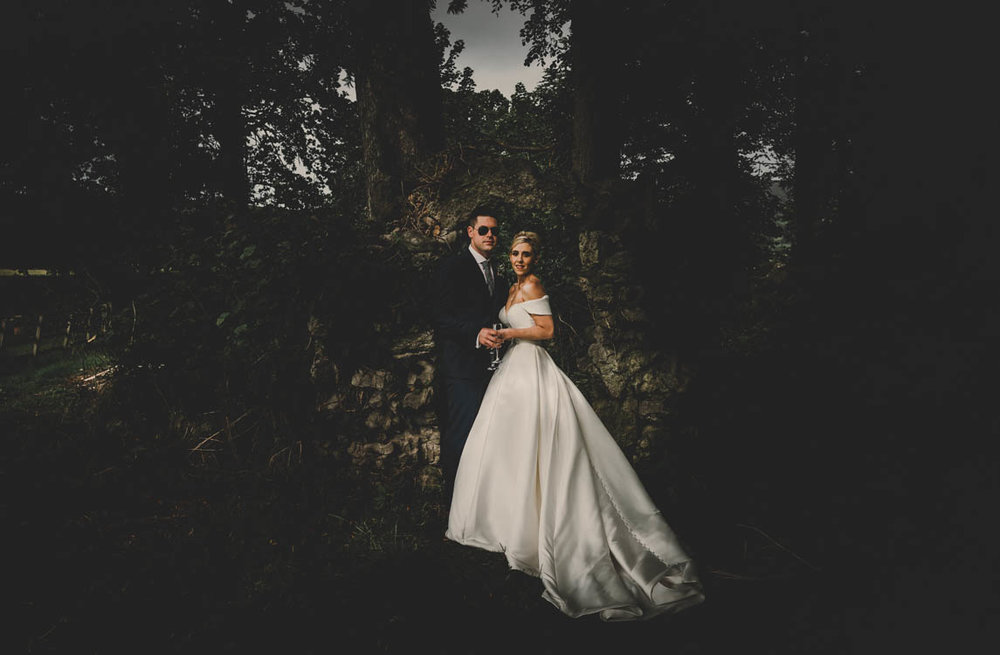 WEDDING: Woodland luxe extravaganza, with an edgy glam pop of rock feauturing 'THE YOUNGS' in Pentre Mawr Country House