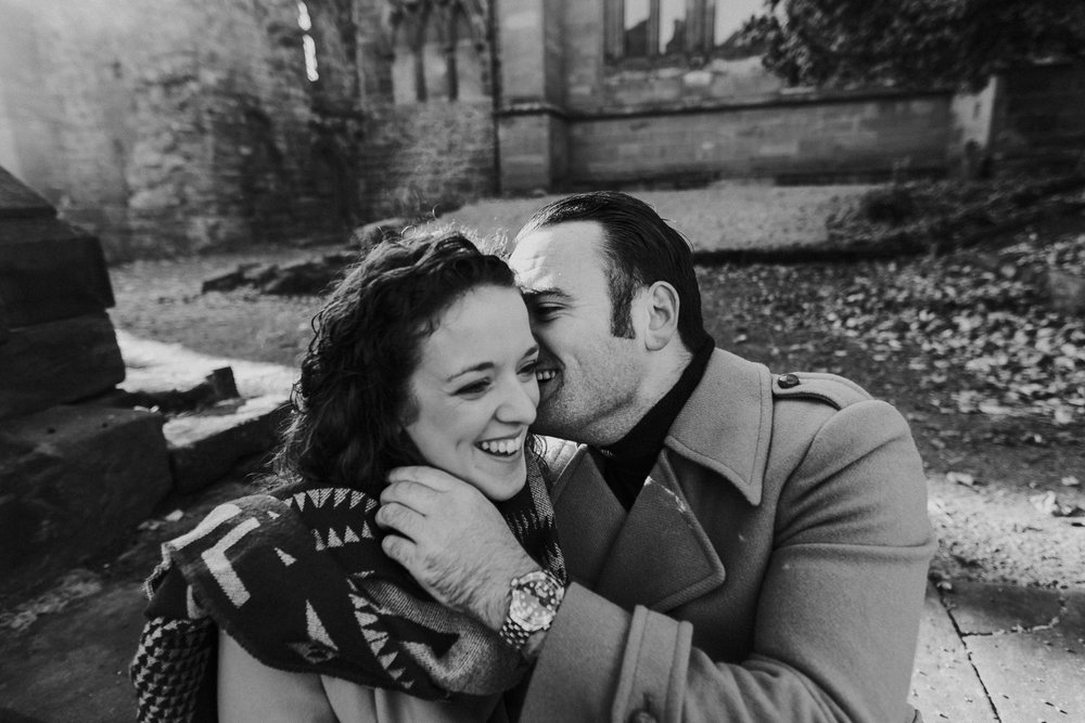 Fun packed engagement shoot in Chester city centre
