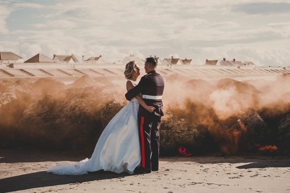 WEDDING: A romantic military beach wedding in North Wales