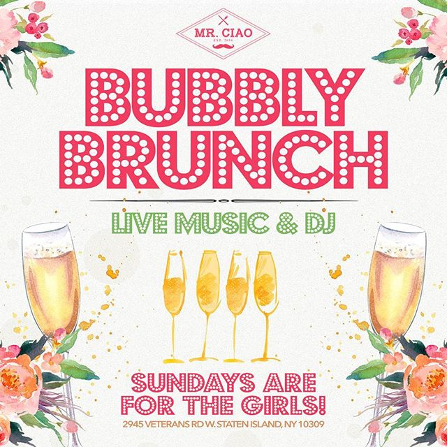 Save The Date Ladies!!! Sunday August 19th Our First Bubbly Brunch !!! For Reservations Call 646-296-1524 #LadiesOnly #GirlsBrunch #SundaysForTheGirls #MrCiao