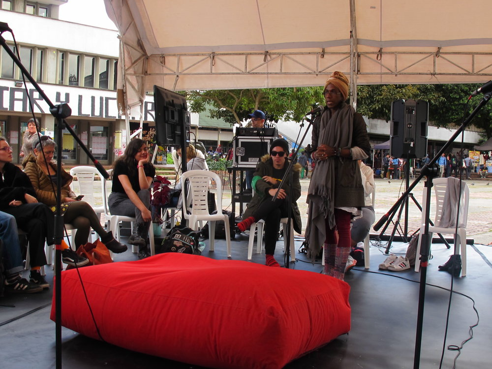 "Michel Candelaria, activista del colectivo ""Narrativa Afro"""