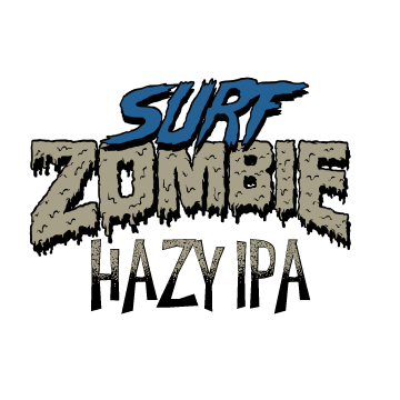 SURF ZOMBIE -hazy ipa - This beer features the always reliable mosaic and simcoe, along with the amazing up and coming hop varietal, Eukanot. There are overwhelming notes of papaya with hints of pineapple and a slight resinous background. The beer drinks incredibly smooth - maintaining the expected tropical fruit flavor, while avoiding the bitterness of old school IPAs.