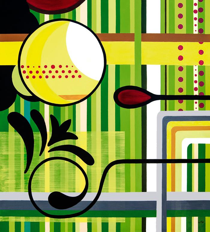 Amarela Pintada, abstração