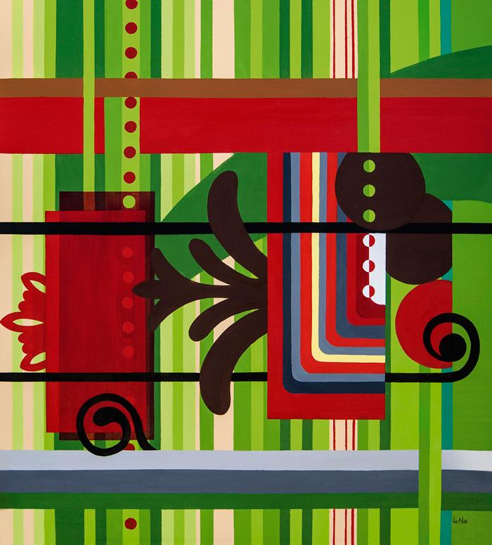 Vermelha Riscada, abstração