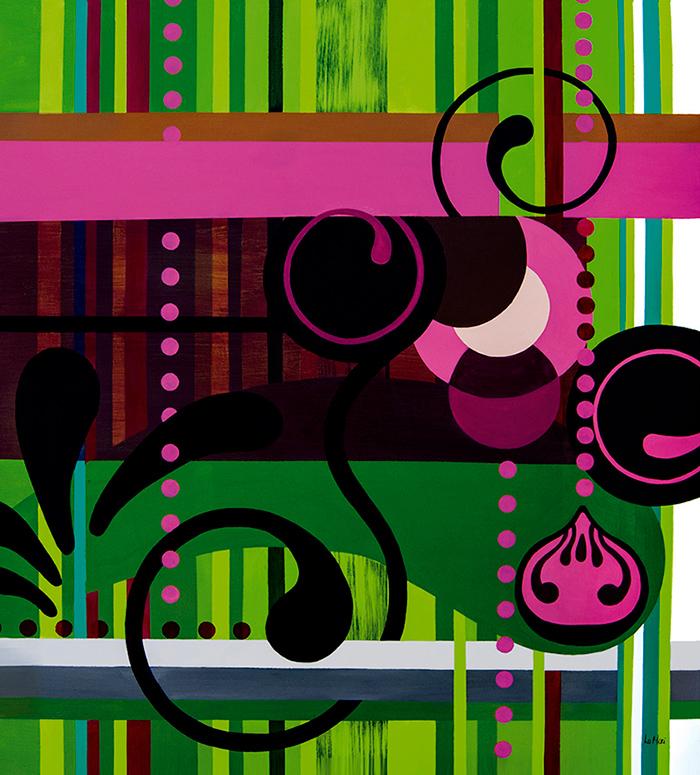Rosa Rajada, abstração