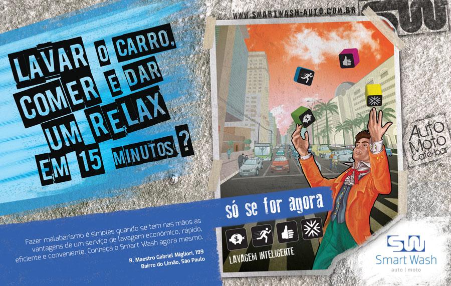 Artefinal da campanha criada sob Direção de criação e redação do   Marcelo Neto   e Direção de arte do   Bruno Sampaio  . lllo:   Lu Mori   ©