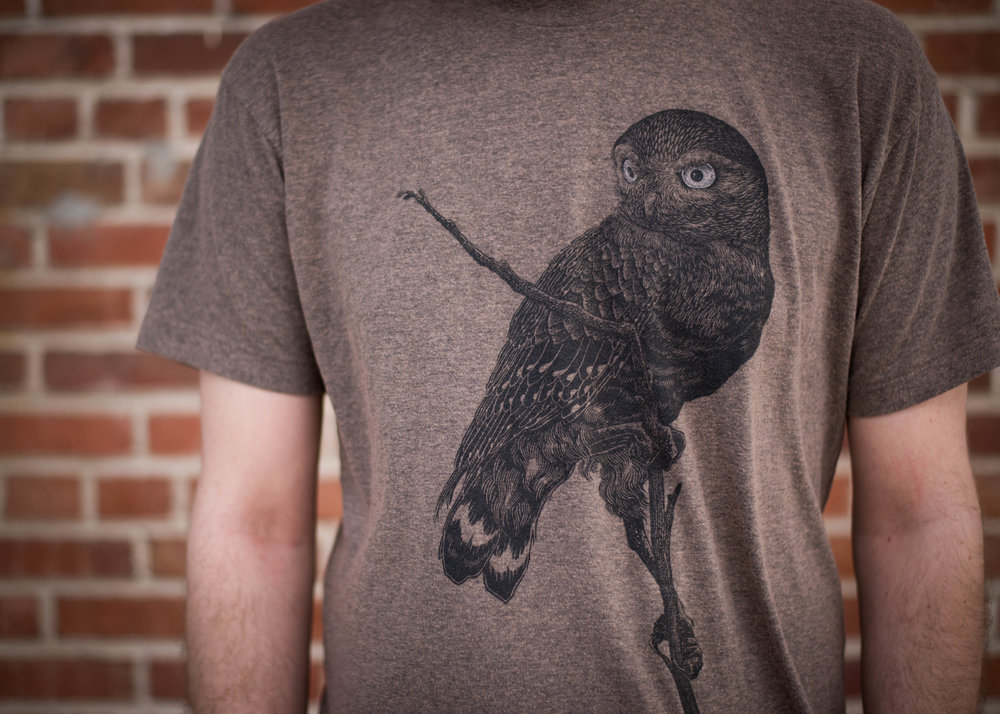 The Bungaloo. Print method SOFT. Screen printed on a American Apparel tri blend shirt. Printed by A Small Print Shop.