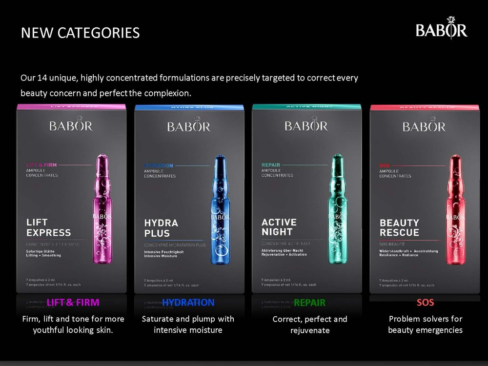 Just released formulations from Babor