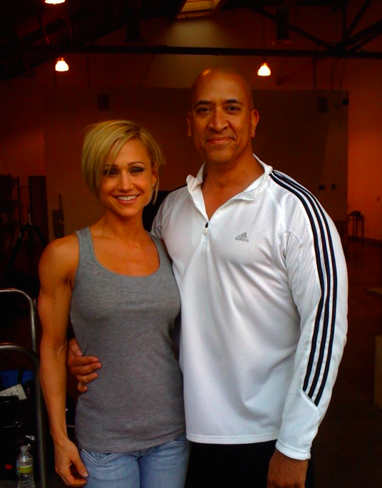 Fitness Superstar...Jamie Eason after the shoot