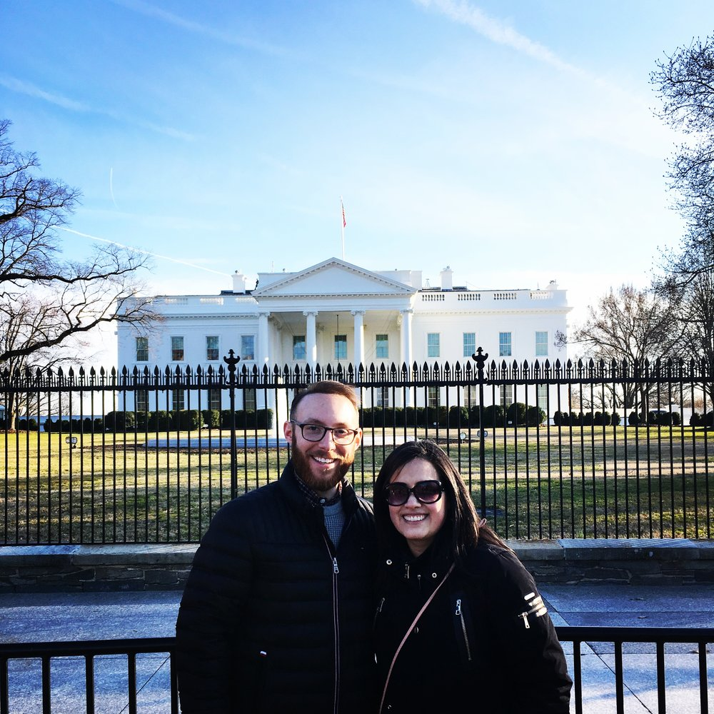 We recently went to Washington D.C. for an event and took advantage of taking in all the sites that the District of Columbia had to offer. Including a picture in front of the White House…
