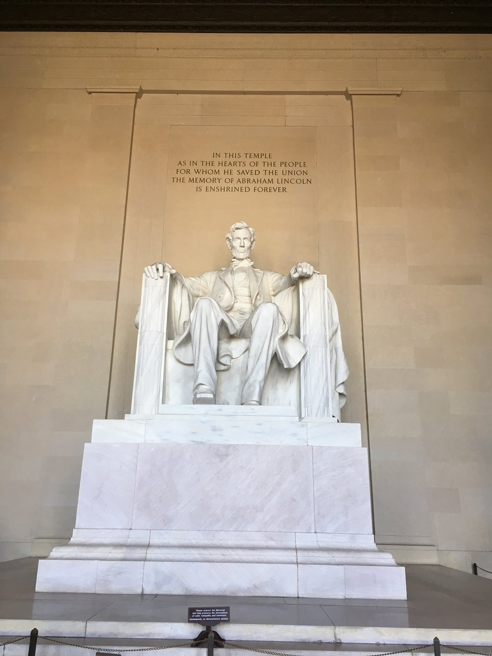 The Lincoln Memorial…