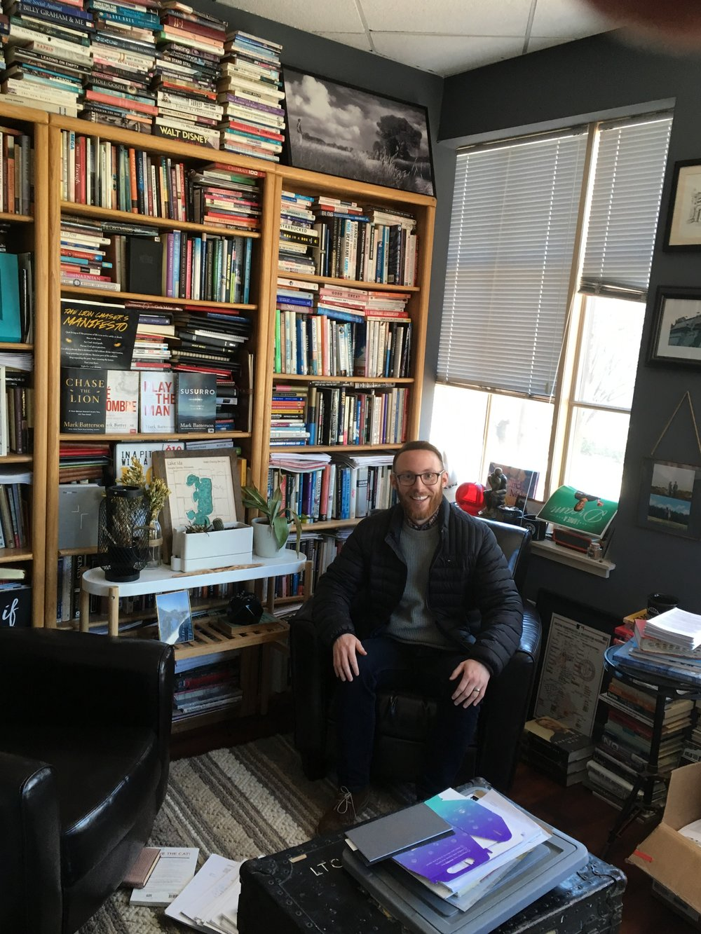 And yes, had to sit in Mark Batterson's office above the coffeehouse.