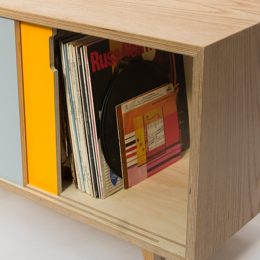 record cabinet storage