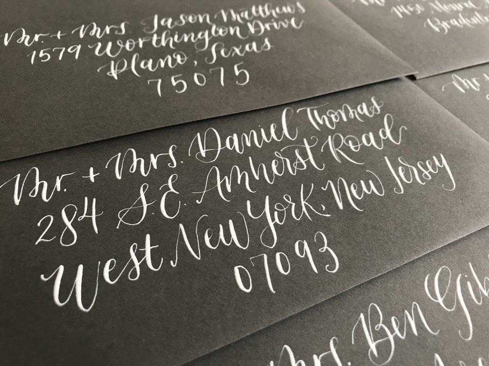 envelope modern calligraphy