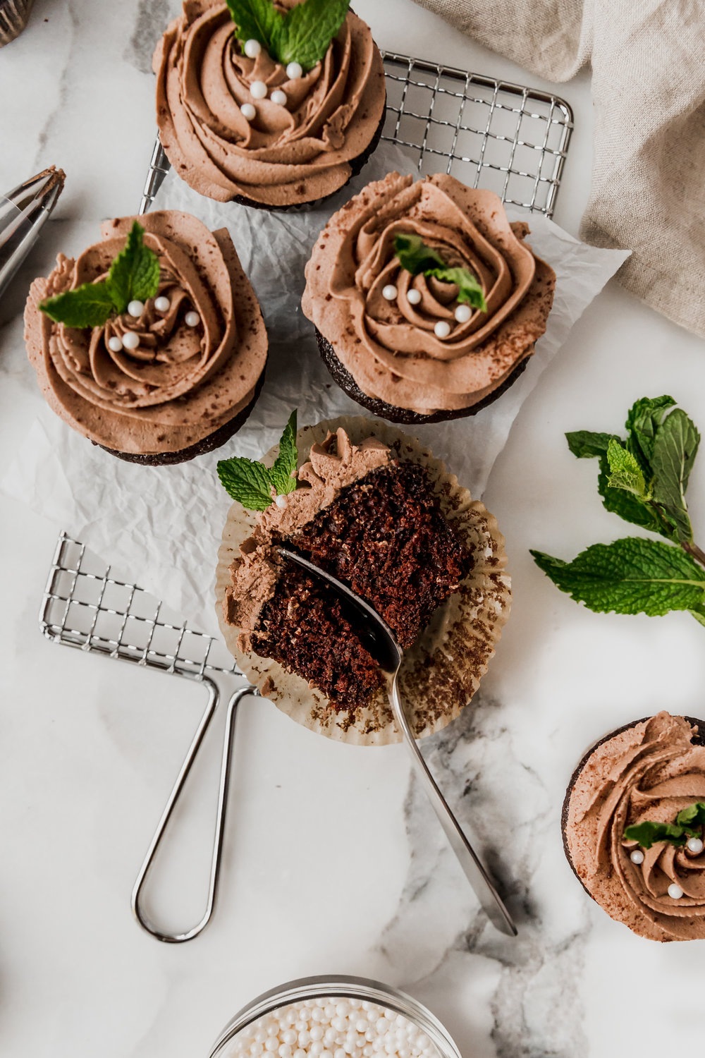 Chocolate Cupcakes with Savory Mint Chocolate Frosting || To Salt & See-15.jpg