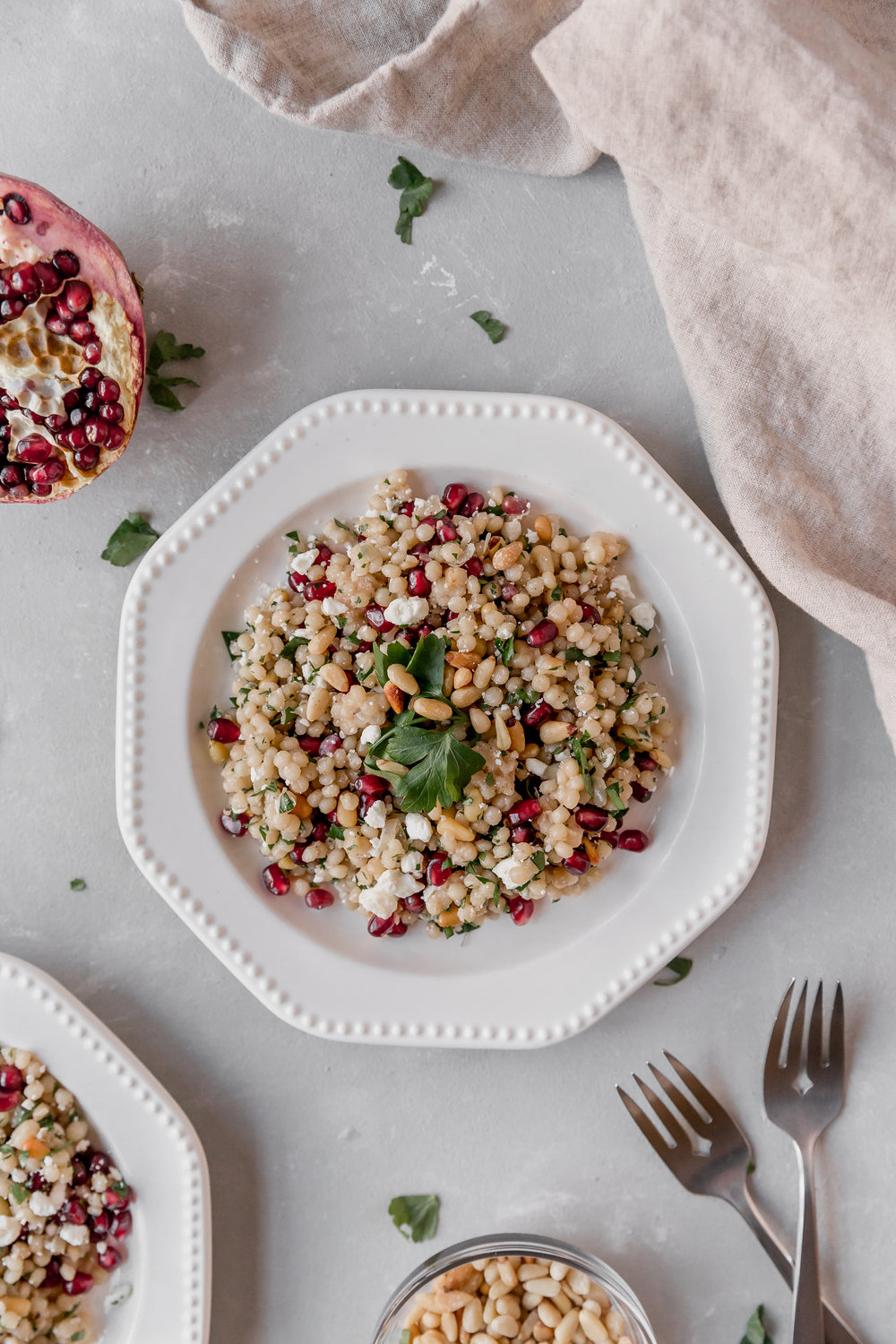 Couscous with Pine Nuts and Pomegranate || To Salt & See-2.jpg