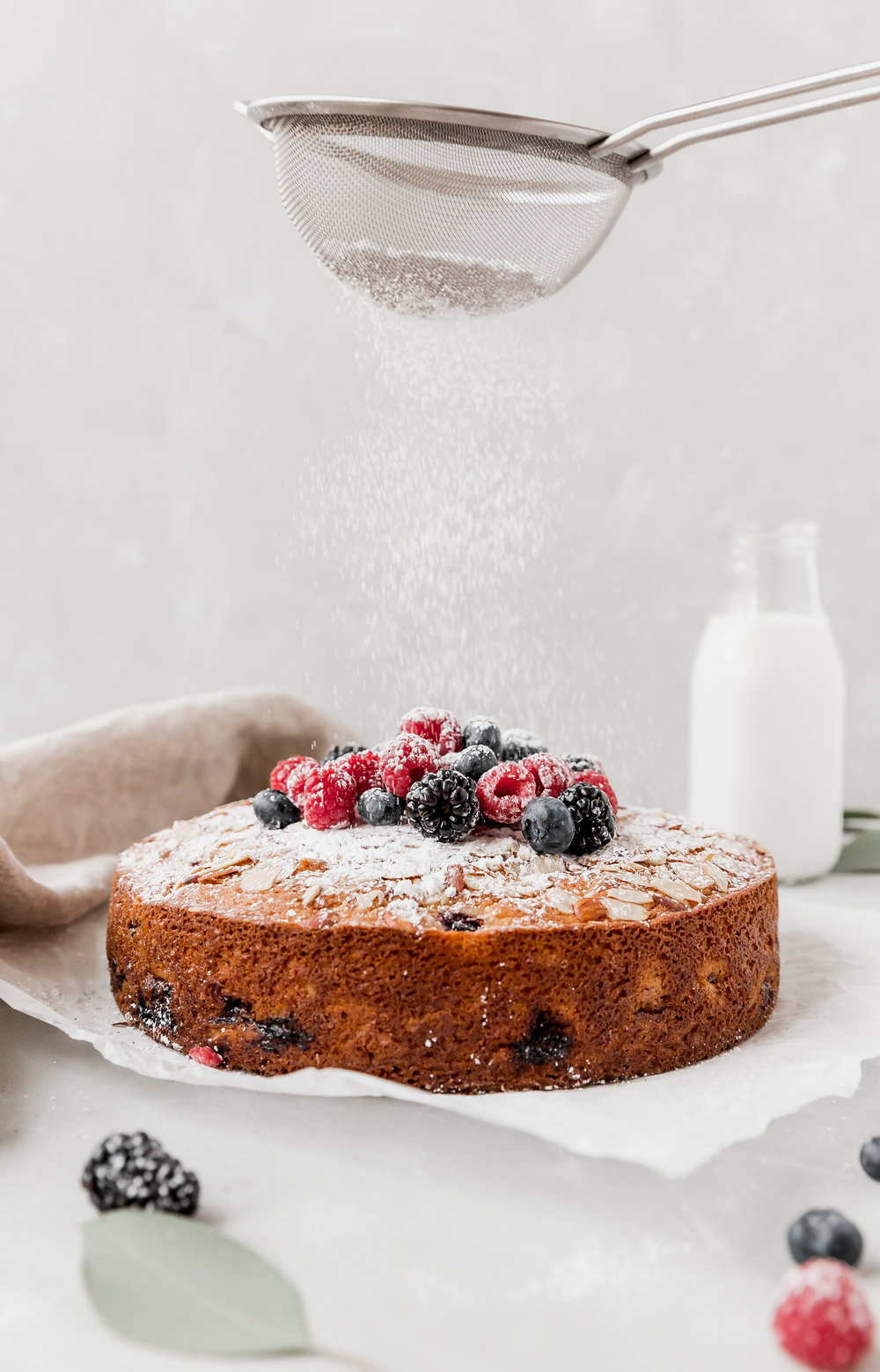 Triple Berry Olive Oil Cake || To Salt & See