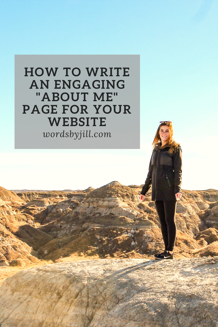 Write an engaging about me page for your website.jpg