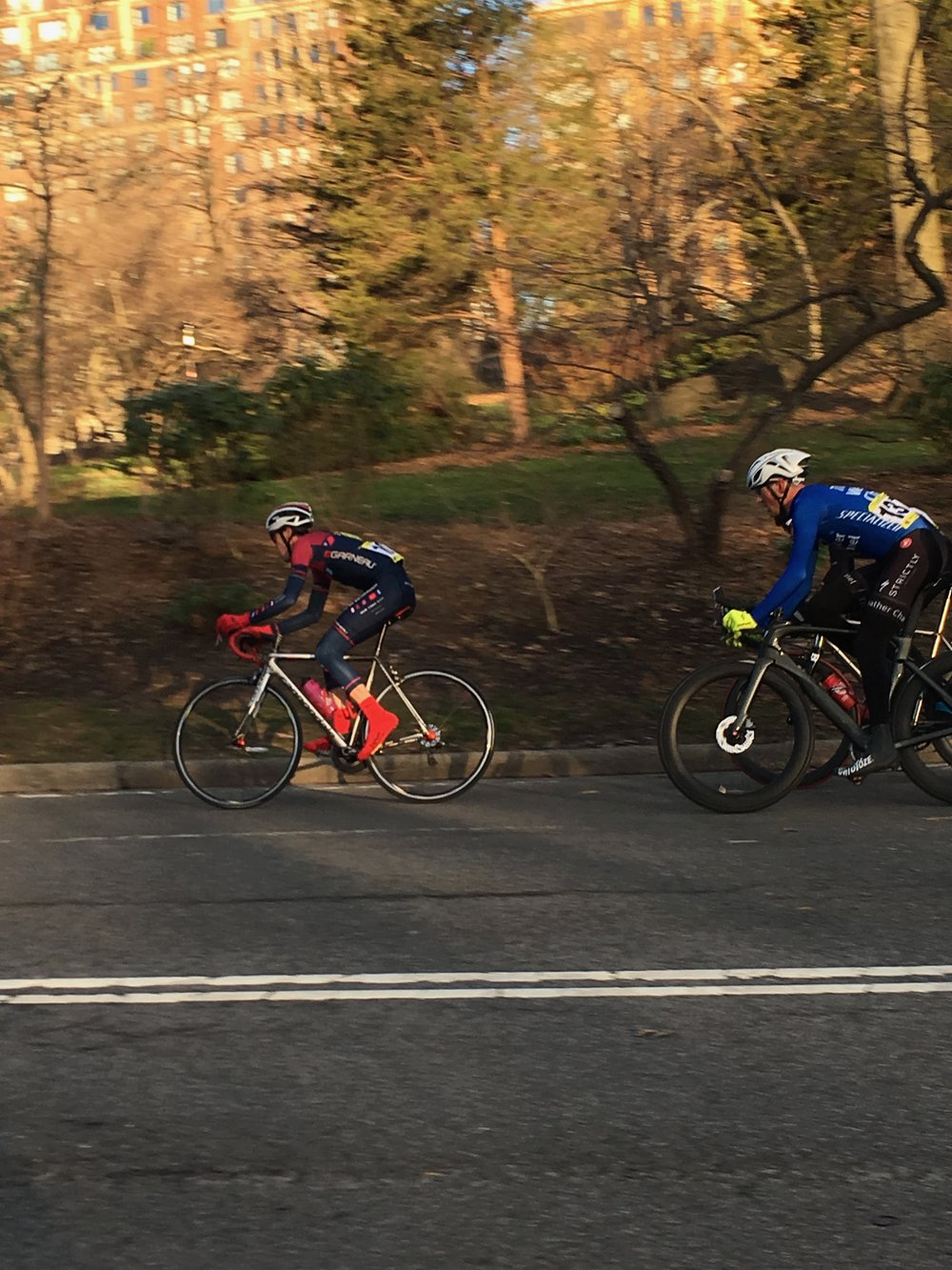 Richard Scudney doing work for the squad on the front of a very fast A field in Central Park
