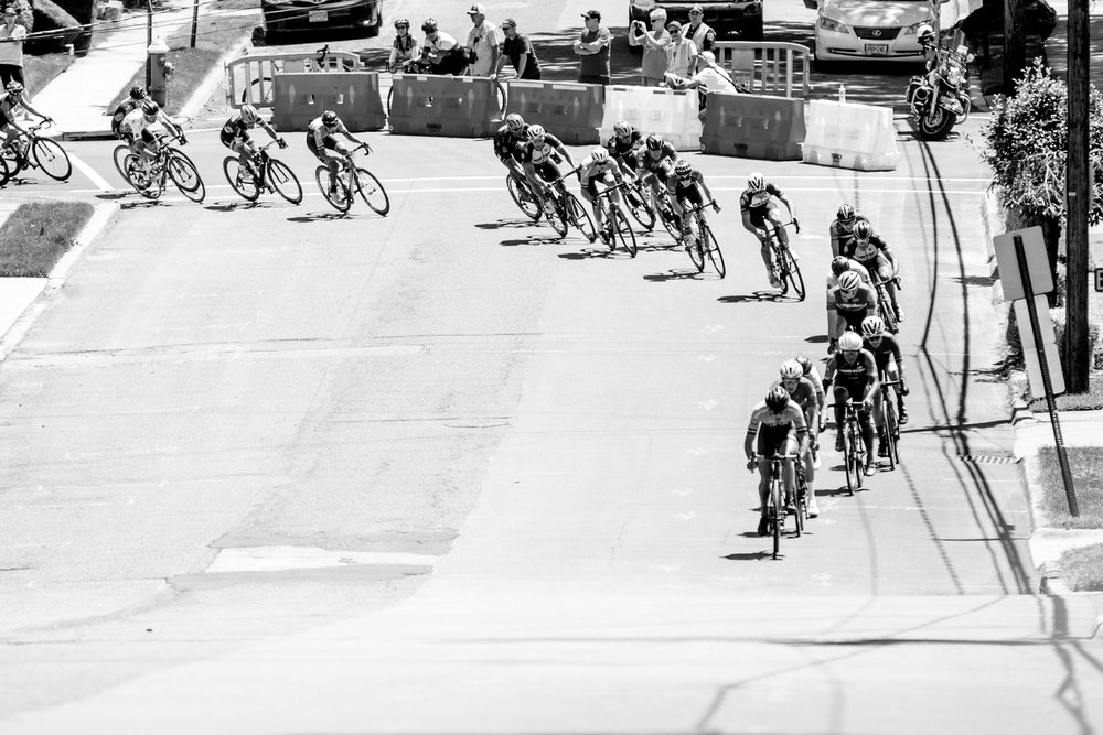 The peloton was stretched out throughout the race.