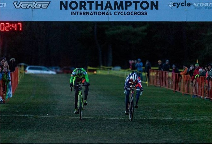 Curtis White and National Champion Stephen Hyde, with the closest photo finish anyone can remember. Photo by Daghan Perker.