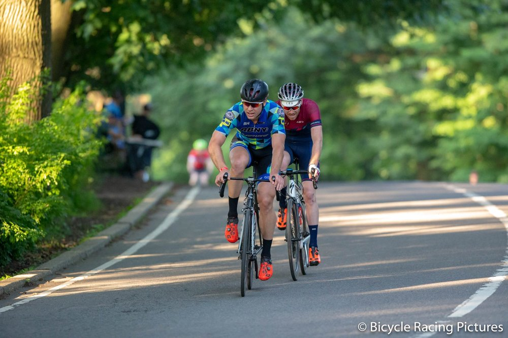 Erwin and Joe during their long two man move as captured by one of NYC's leading race photographers: Bicycle Racing Pictures