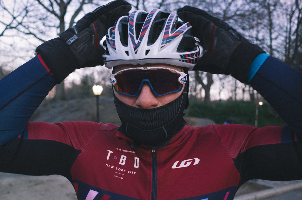 One of those early season dawn races that required all of the winter kit including the Garneau Shield gloves and a Balaclava