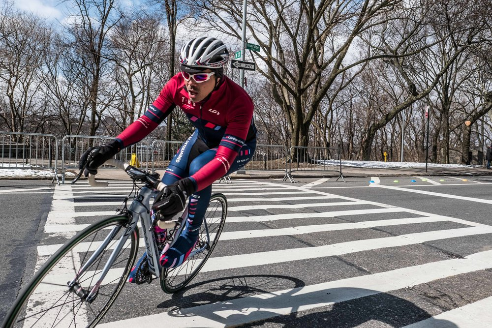 Early season racing in New York City at the Grant's Tomb Criterium