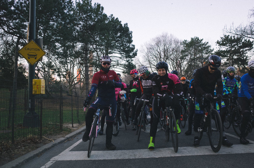 The opening race of the season with Garneau Providence bibs (chamois-less) worn under our team bibs, Garneau shield gloves, and the Garneau balaclava.