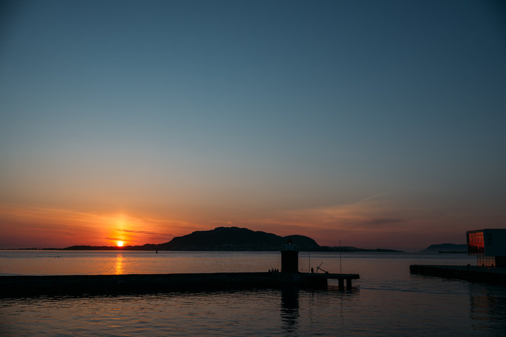 One last sunset view of Ålesund.